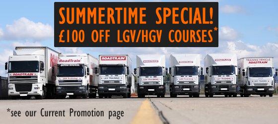 £100 OFF LGV/HGV COURSES